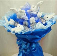 7 adet pelus ayicik buketi  Kahramanmaraş 14 şubat sevgililer günü çiçek