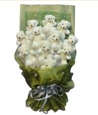 11 adet pelus ayicik buketi  Kahramanmaraş online çiçekçi , çiçek siparişi