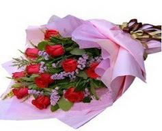 11 adet kirmizi güllerden görsel buket  Kahramanmaraş çiçek siparişi vermek