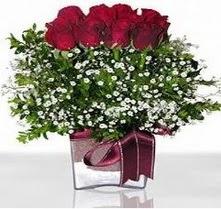 Kahramanmaraş çiçek mağazası , çiçekçi adresleri  mika yada cam vazo içerisinde 7 adet gül