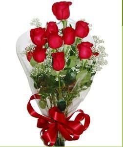 Kahramanmaraş çiçek gönderme sitemiz güvenlidir  10 adet kırmızı gülden görsel buket