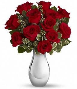 Kahramanmaraş yurtiçi ve yurtdışı çiçek siparişi   vazo içerisinde 11 adet kırmızı gül tanzimi