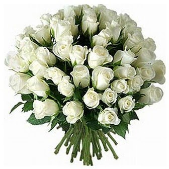 Kahramanmaraş çiçek , çiçekçi , çiçekçilik  33 adet beyaz gül buketi