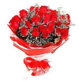 Kahramanmaraş ucuz çiçek gönder  12 adet kırmızı güllerden görsel buket
