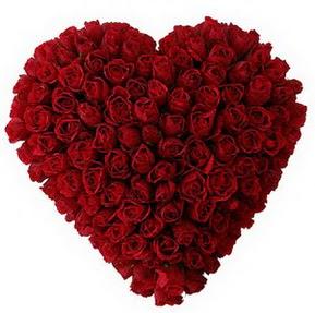 Kahramanmaraş çiçek online çiçek siparişi  muhteşem kırmızı güllerden kalp çiçeği