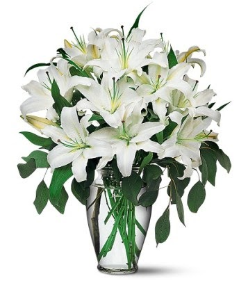Kahramanmaraş çiçek mağazası , çiçekçi adresleri  4 dal kazablanka ile görsel vazo tanzimi