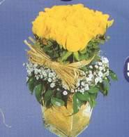 Kahramanmaraş çiçek gönderme  Cam vazoda 9 Sari gül