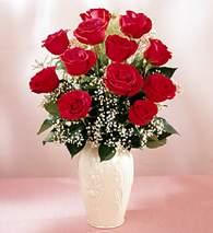 Kahramanmaraş çiçek online çiçek siparişi  9 adet vazoda özel tanzim kirmizi gül