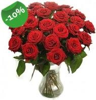 Vazo içerisinde 25 adet kırmızı gül  Kahramanmaraş çiçek yolla , çiçek gönder , çiçekçi