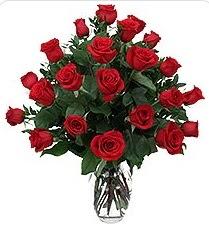 Kahramanmaraş çiçek servisi , çiçekçi adresleri  24 adet kırmızı gülden vazo tanzimi