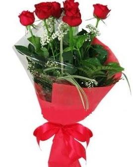 5 adet kırmızı gülden buket  Kahramanmaraş hediye çiçek yolla
