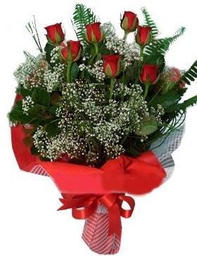 7 kırmızı gül buketi  Kahramanmaraş çiçek , çiçekçi , çiçekçilik