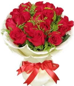 19 adet kırmızı gülden buket tanzimi  Kahramanmaraş çiçek , çiçekçi , çiçekçilik
