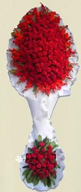 Çift katlı kıpkırmızı düğün açılış çiçeği  Kahramanmaraş çiçek gönderme