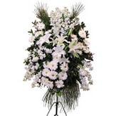 Kahramanmaraş çiçek yolla , çiçek gönder , çiçekçi   Ferforje beyaz renkli kazablanka