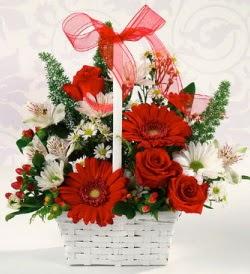 Karışık rengarenk mevsim çiçek sepeti  Kahramanmaraş güvenli kaliteli hızlı çiçek