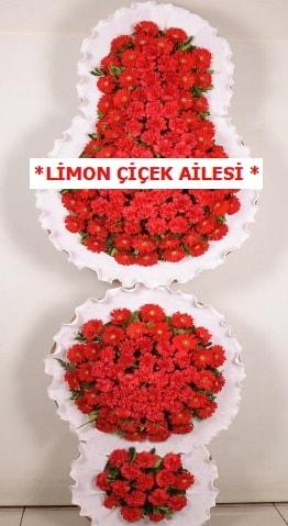 3 katlı kırmızı düğün açılış çiçeği  Kahramanmaraş cicek , cicekci
