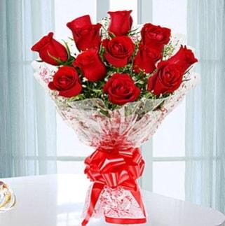 11 adet kırmızı gülden görsel şık buket  Kahramanmaraş anneler günü çiçek yolla