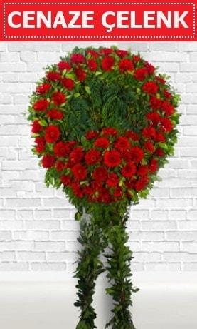 Kırmızı Çelenk Cenaze çiçeği  Kahramanmaraş internetten çiçek siparişi