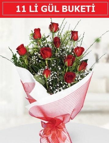 11 adet kırmızı gül buketi Aşk budur  Kahramanmaraş çiçek siparişi vermek