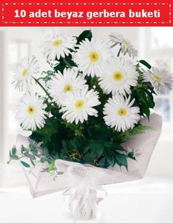 10 Adet beyaz gerbera buketi  Kahramanmaraş 14 şubat sevgililer günü çiçek