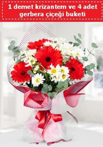 Krizantem ve Gerbera Buketi  Kahramanmaraş çiçek servisi , çiçekçi adresleri
