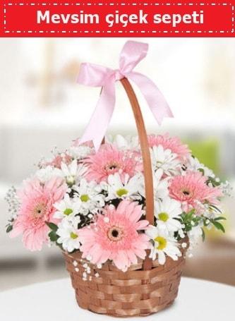 Mevsim kır çiçek sepeti  Kahramanmaraş 14 şubat sevgililer günü çiçek