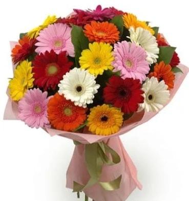 Karışık büyük boy gerbera çiçek buketi  Kahramanmaraş uluslararası çiçek gönderme