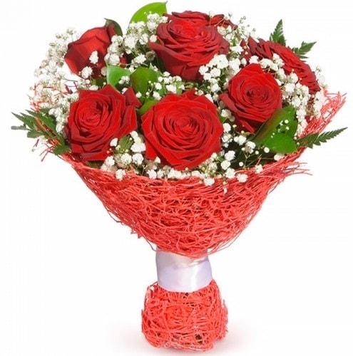 7 adet kırmızı gül buketi  Kahramanmaraş kaliteli taze ve ucuz çiçekler